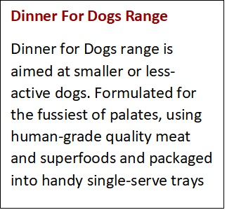 Dinner For Dogs Range